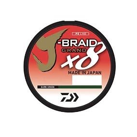 J-BRAID® 8X 8LB 0.13MM 135 MT DARK GREEN