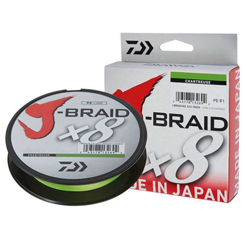 J-Braid® 8LB 0,13MM 150MT 8X CHAR