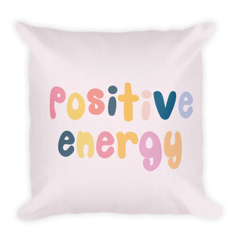 Vsco Throw Pillow - Positive Energy