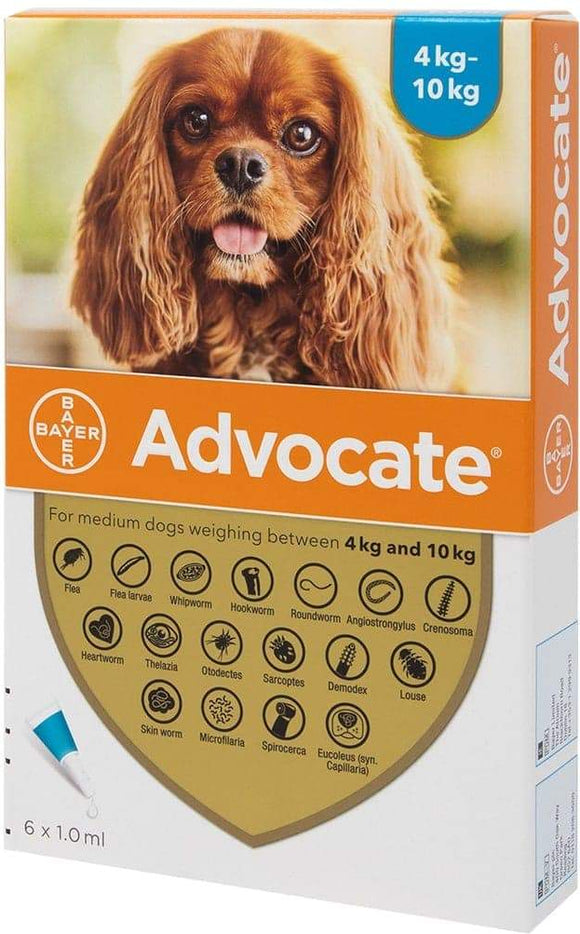 Advocate Dogs (4-10kg, 1ml)