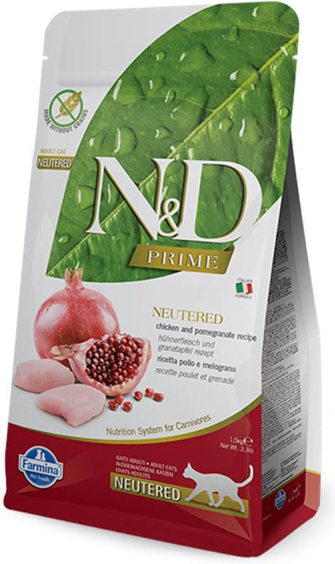 N&D Cat Prime Neutered Chicken & Pomegranate