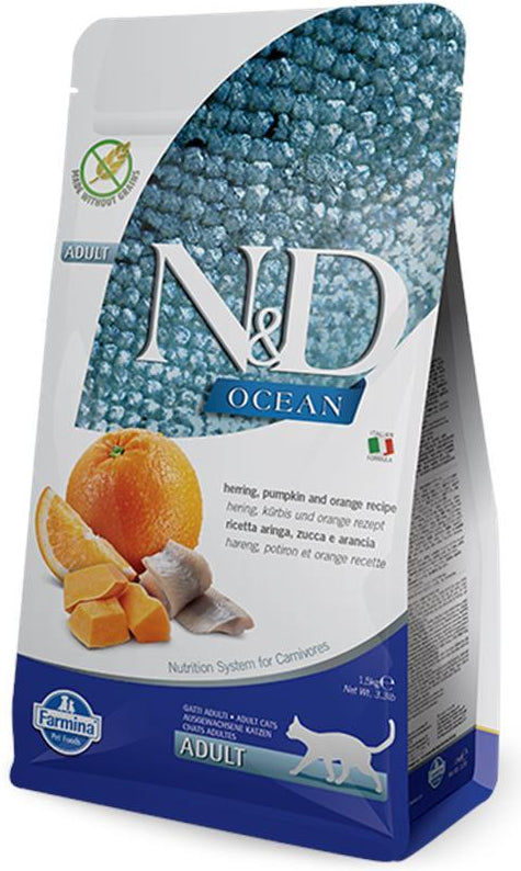 N&D Cat Ocean Herring, Pumpkin & Orange