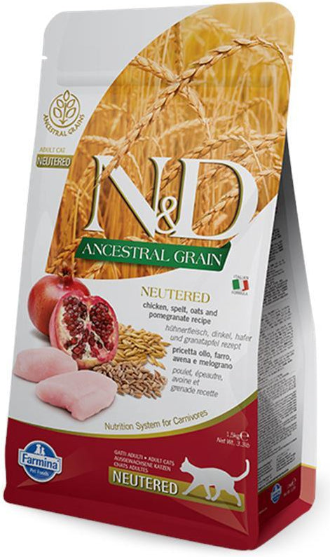 N&D Cat Ancestral Grain Neutered Chicken & Pomegranate