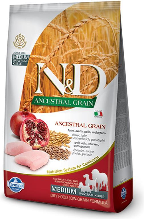 N&D Ancestral Grain Puppy Medium Chicken & Pomegranate