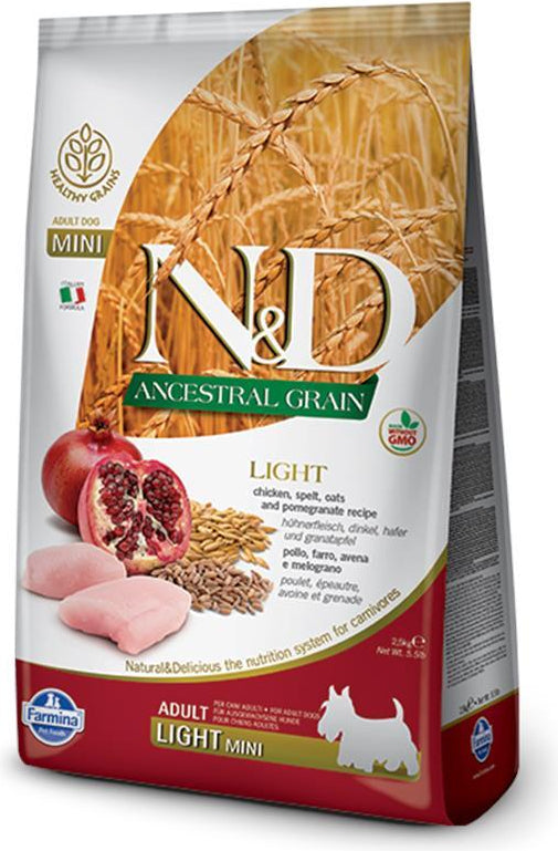 N&D Ancestral Grain Light Mini Chicken & Pomegranate