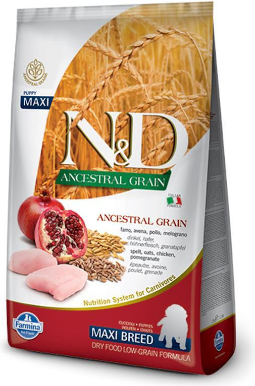 N&D Ancestral Grain Puppy Maxi Chicken & Pomegranate