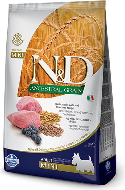 N&D Ancestral Grain Puppy Mini Lamb & Blueberry
