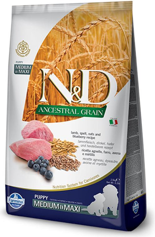 N&D Ancestral Grain Puppy Medium & Maxi Lamb & Blueberry