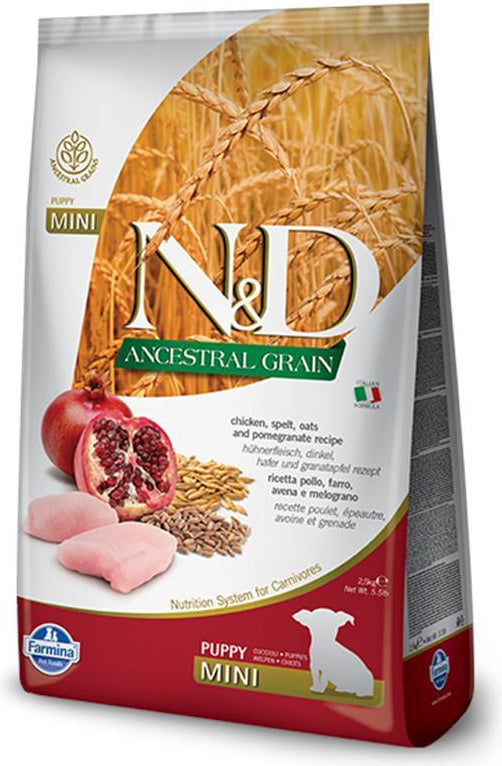 N&D Ancestral Grain Puppy Mini Chicken & Pomegranate