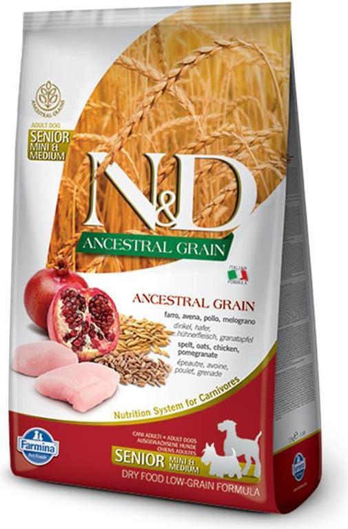 N&D Ancestral Grain Senior Mini & Medium Chicken & Pomegranate