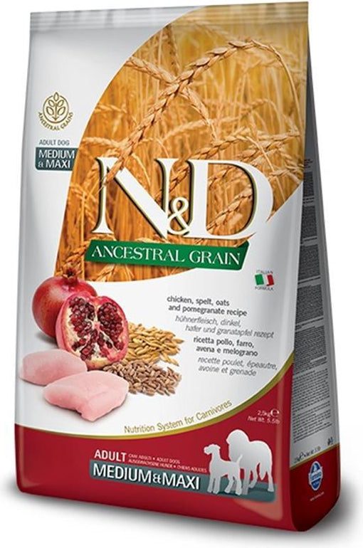 N&D Ancestral Grain Medium & Maxi Chicken & Pomegranate
