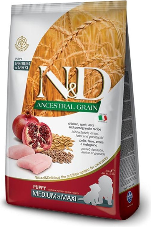 N&D Ancestral Grain Puppy Medium & Maxi Chicken & Pomegranate