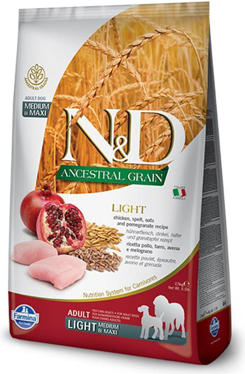 N&D Ancestral Grain Light Medium & Maxi Chicken & Pomegranate