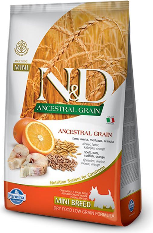 N&D Ancestral Grain Mini Codfish & Orange