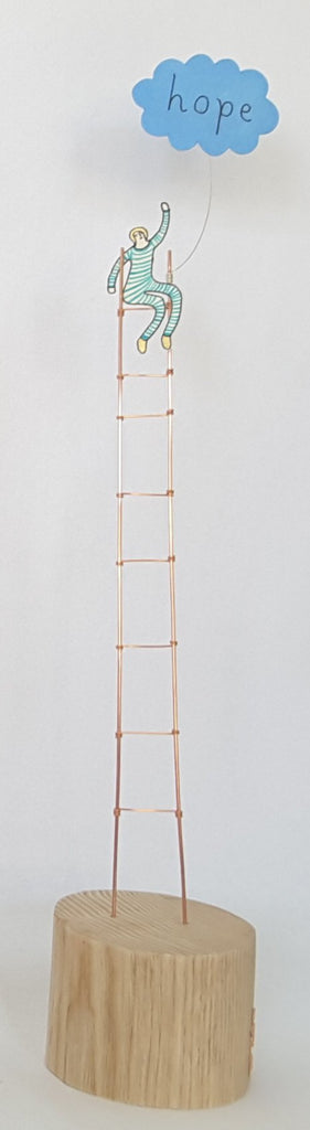 ladder and hope sculpture