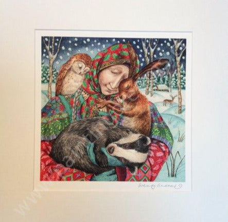In The Arms of Grace Print by Wendy Andrew