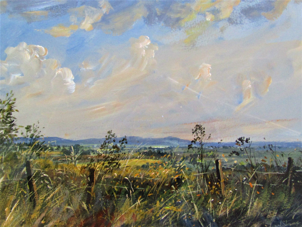 blue chilterns august by edward stamp