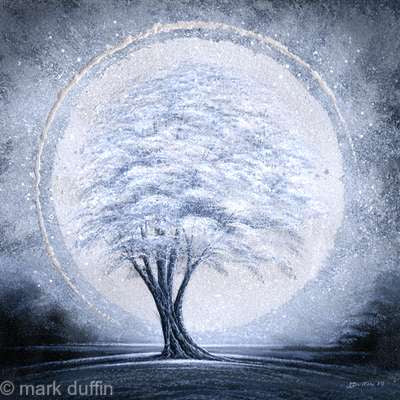 Spirit Moon - Original Painting by Mark Duffin