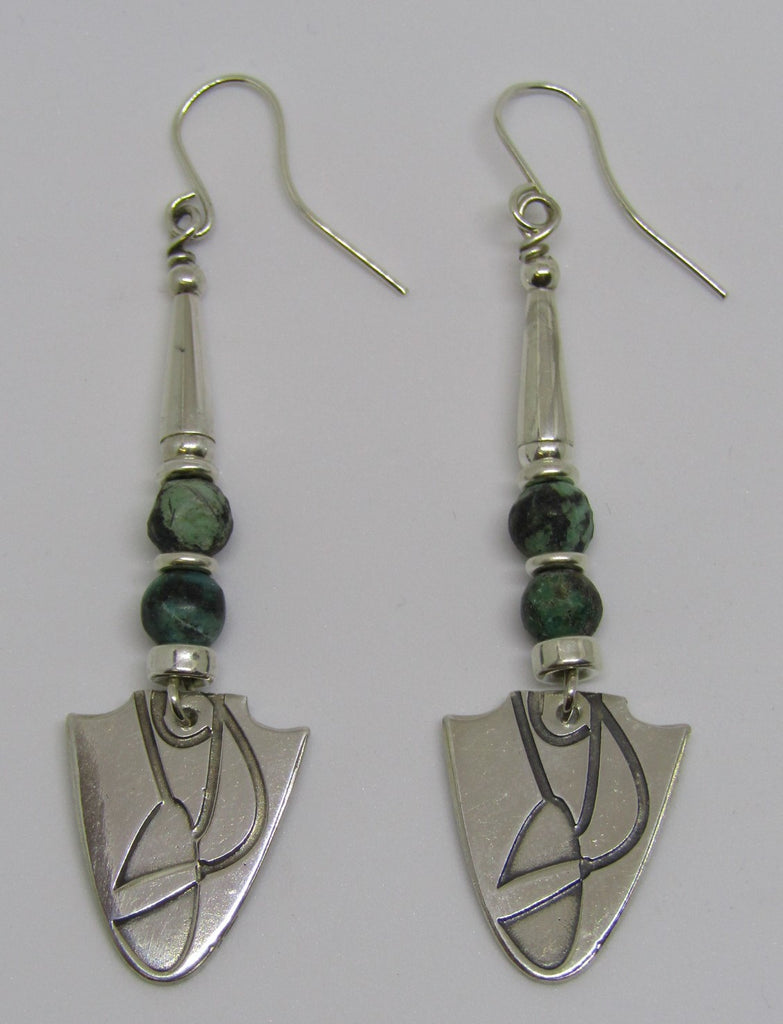 African Turquoise Earrings by Anne Farag