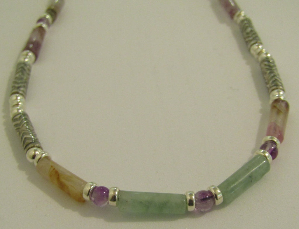 Fluorite and Silver Necklace