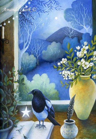 A Star to Light Your Way - original acrylic painting on canvas by Amanda Clark