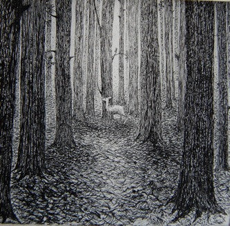 Flora McLachlan A Forest etching