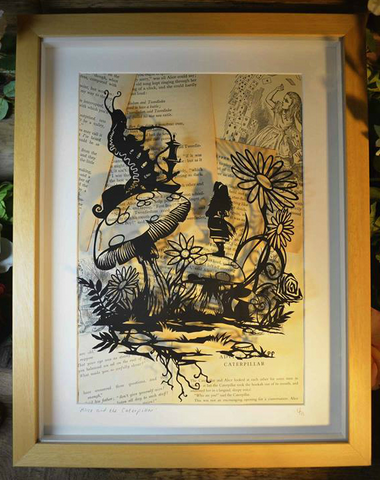 Alice and the Caterpillar - Original Paper Cut.   NOW £585.