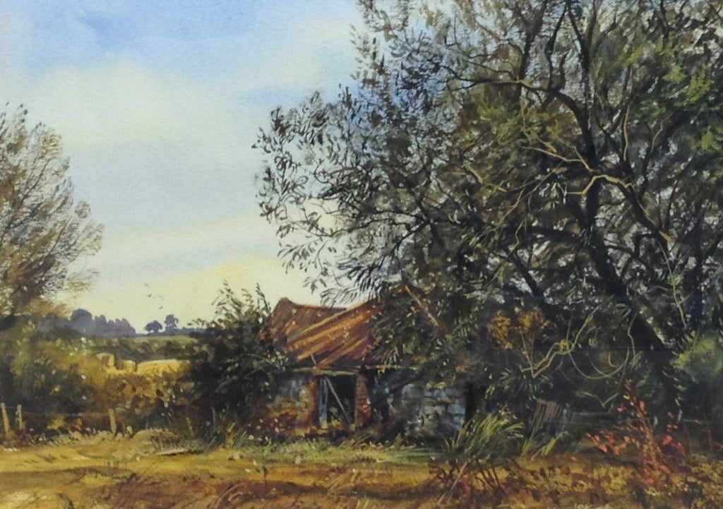 An Old Barn in August by Edward Stamp