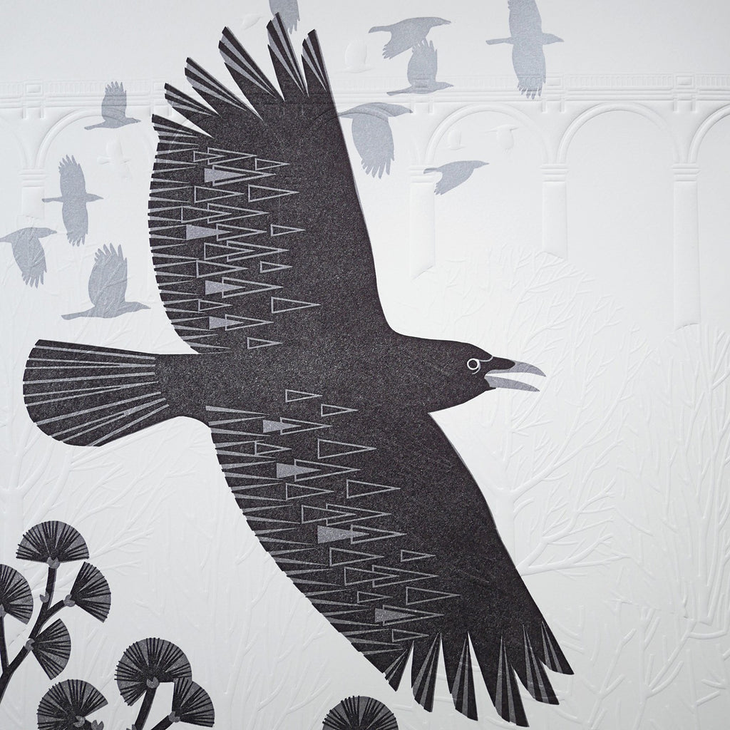 Flying Crows at the Viaduct By Ashley Hutchinson