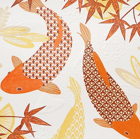 Koi Fish Swimming By Ashley Hutchinson