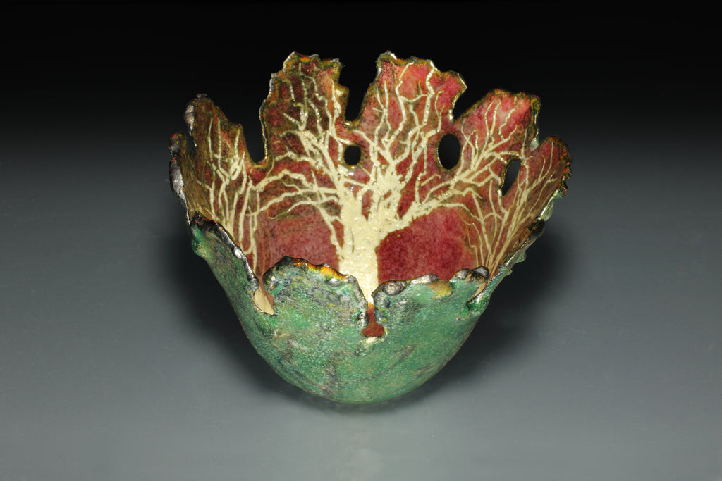 Enamelled Copper Bowl by Gillian Harkness