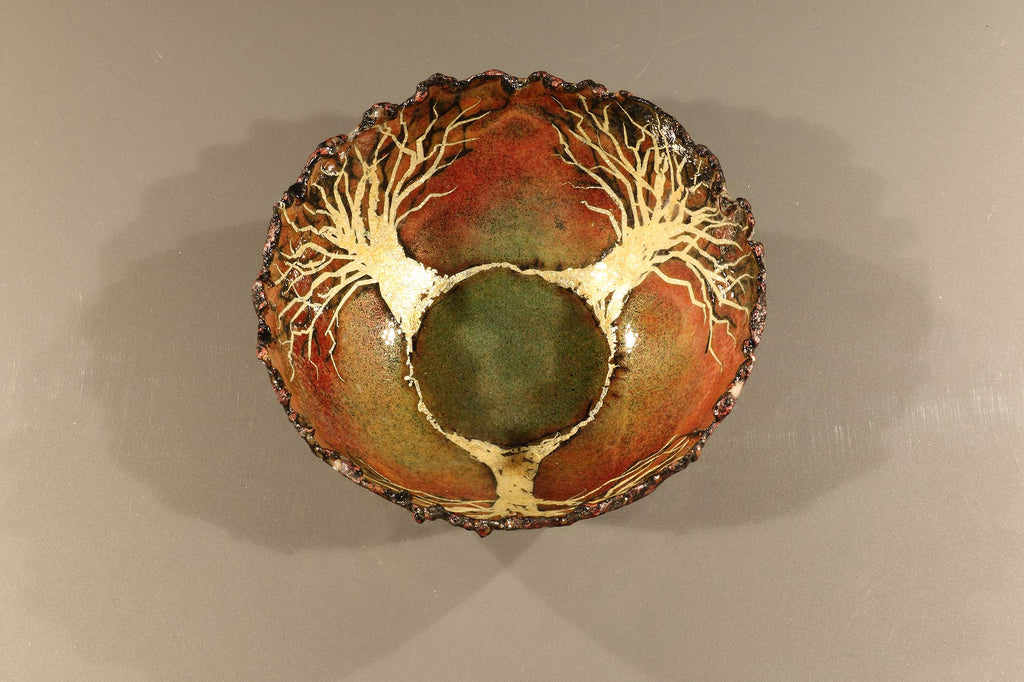 Enamelled Bowl by Gillian Harkness