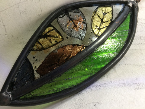 Guilded Leaves stained glass by Bryan Smith