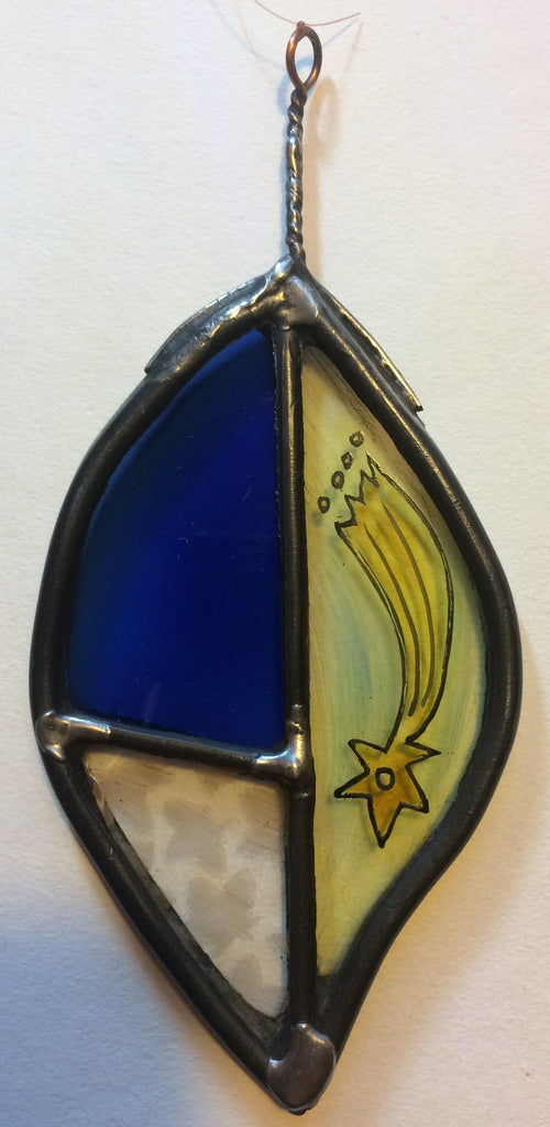 Leaf, stained glass by Bryan Smith