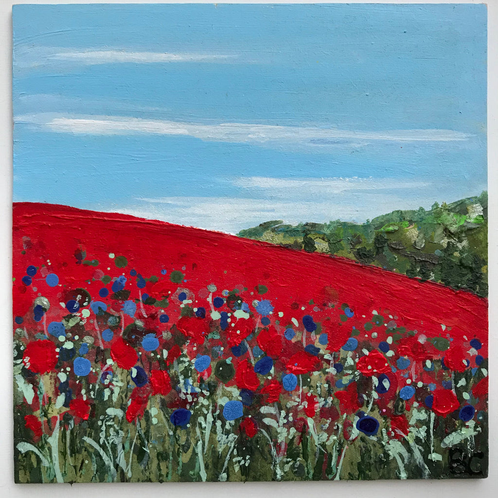 'Tiny Poppies and Corn Flowers' by Becca Clegg