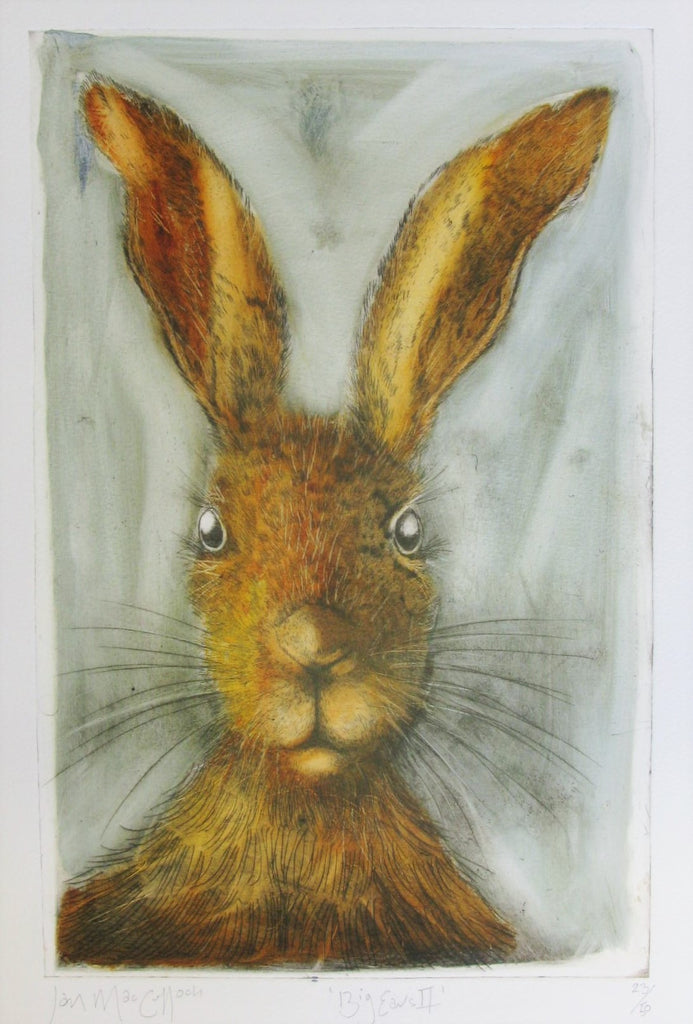 Big Ears II, Etching by Ian MacCulloch