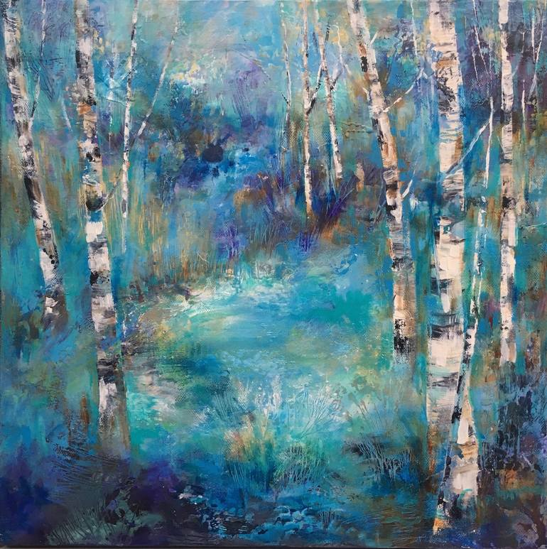 Birches & Frost by Sue Graham