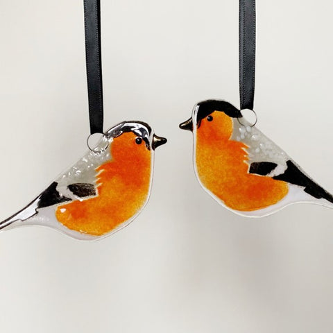 Bullfinch Glass Decoration