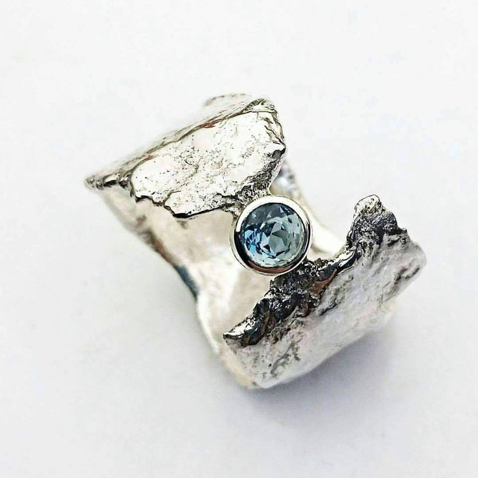 Blue Topaz Faerie Tale ring by Caroline Stokesberry-Lee