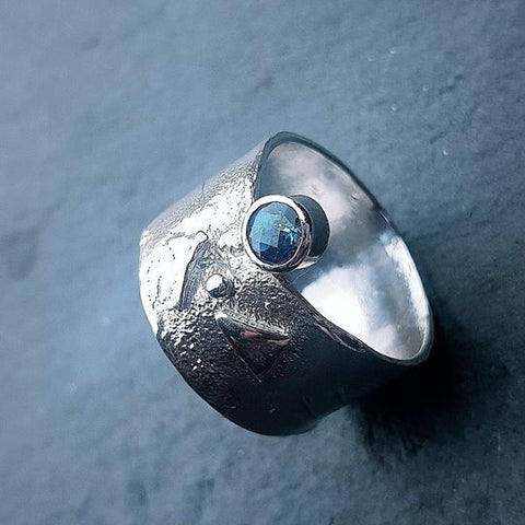 Blue Topaz Guardian Ring by Caroline Stokesberry-Lee
