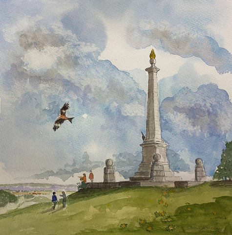 Coombe Hill - watercolour by John A. Viccars