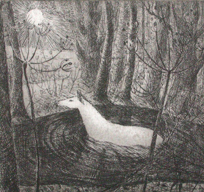 Flora McLachlan Crossing the Water etching