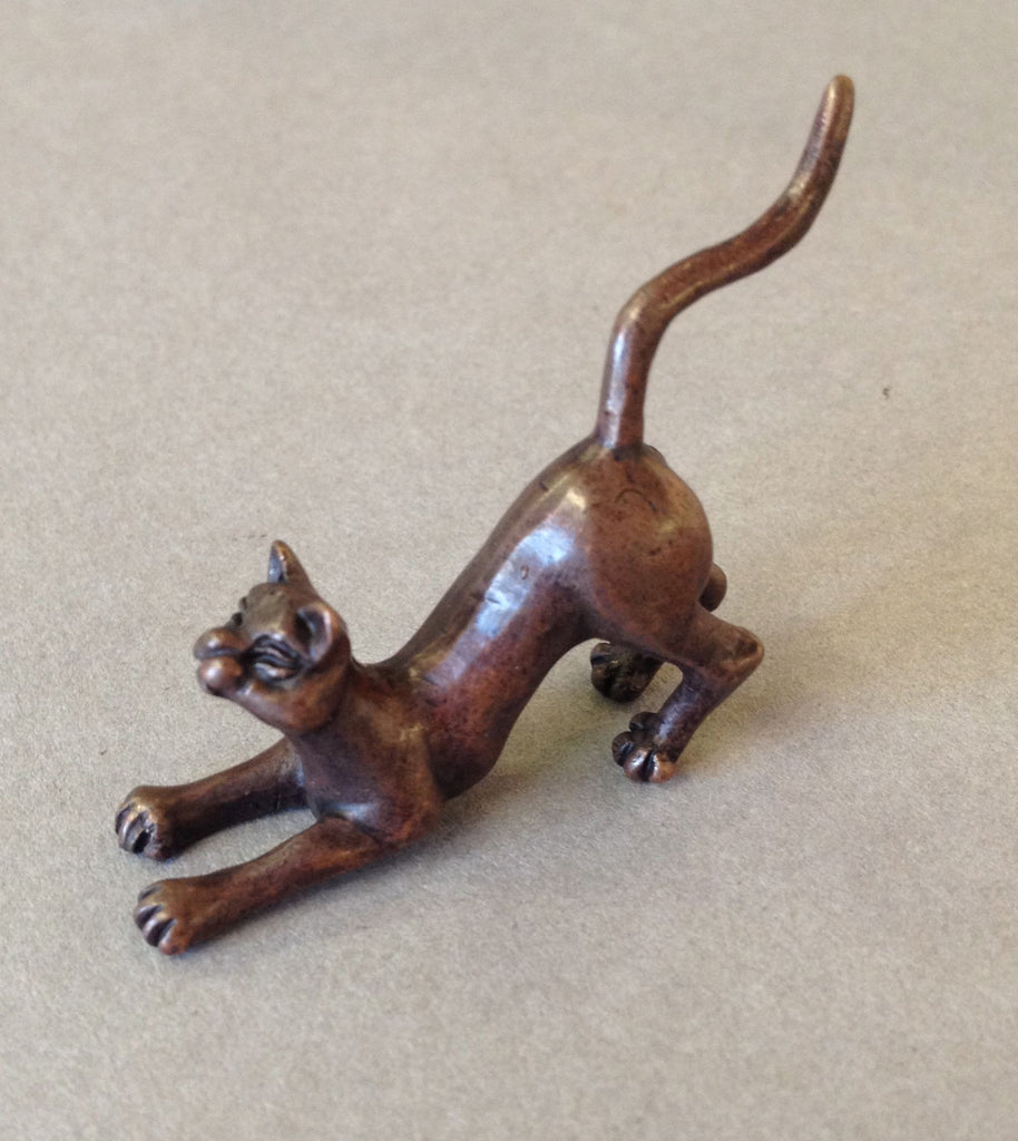 Miniature Crouching Cat by David Meredith