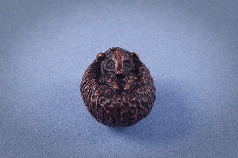 Miniature Bronze Sleeping Hedgehog