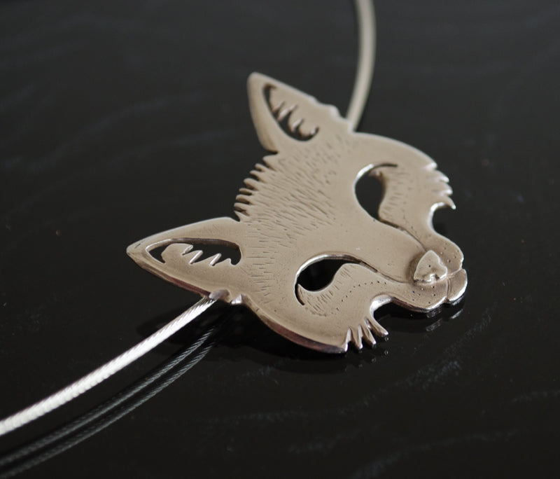 Arctic Fox necklace by Katy Quinn
