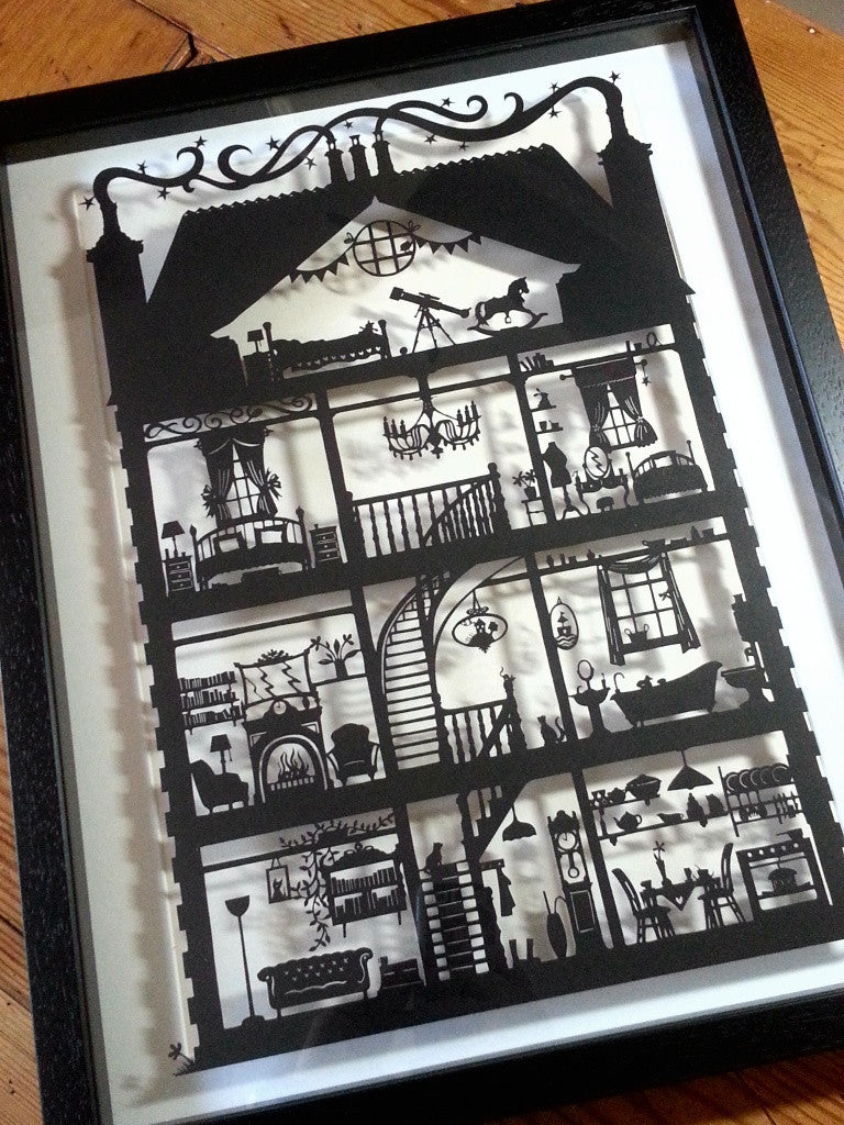 Doll's House - Laser-Cut in Black