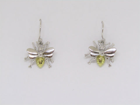 Bee Earrings made by Madeleine Blaine.