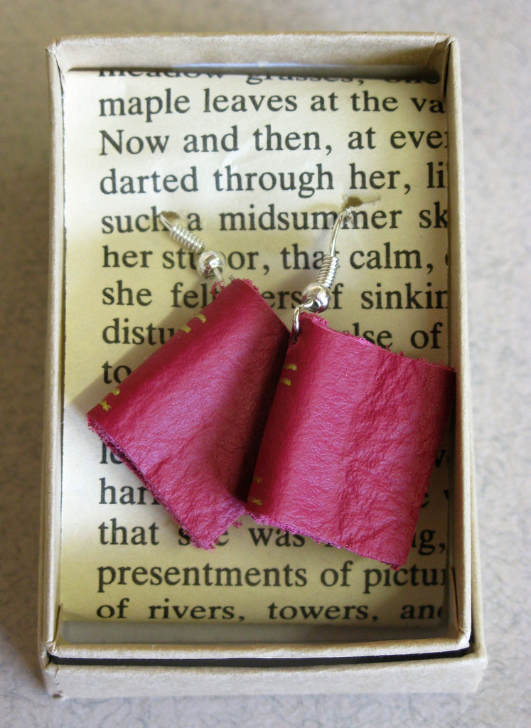 Pair of Miniature Book Earrings