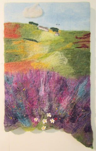 English Summer, Lavender Fields by Myra Hutton