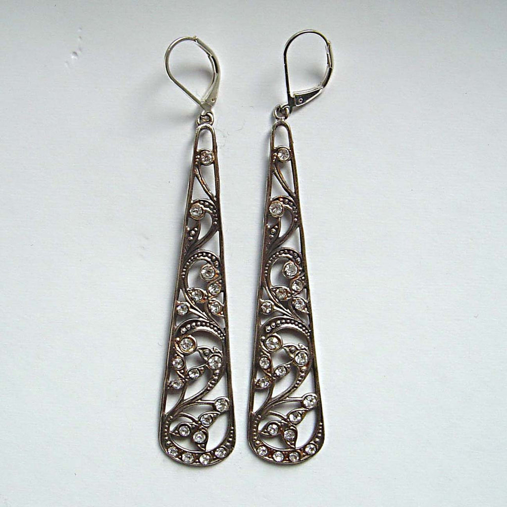 Jess Lelong Long Cutout Filigree Earrings